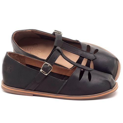 Laranja_Lima_Shoes_Sapatos_Femininos_Sapatilha_Bico_Redondo_em_Couro_Preto_-_Codigo_-_3051_1