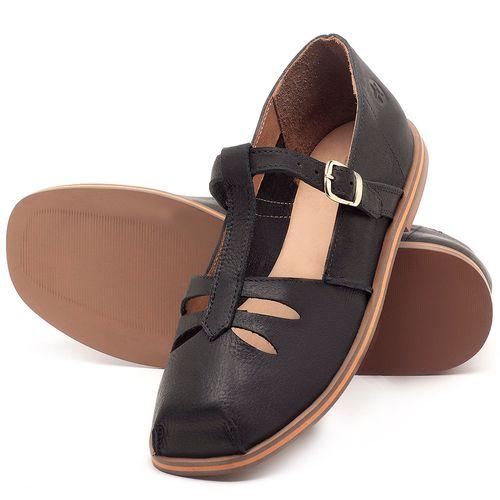 Laranja_Lima_Shoes_Sapatos_Femininos_Sapatilha_Bico_Redondo_em_Couro_Preto_-_Codigo_-_3051_2