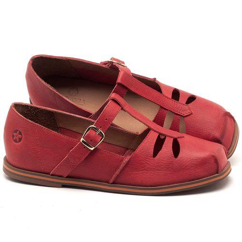 Laranja_Lima_Shoes_Sapatos_Femininos_Sapatilha_Bico_Redondo_em_Couro_Vermelho_-_Codigo_-_3051_1