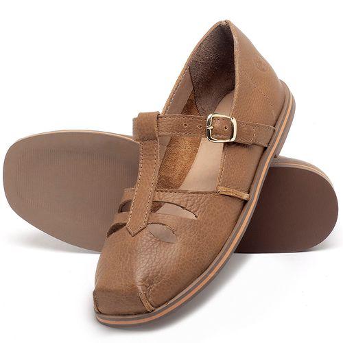 Laranja_Lima_Shoes_Sapatos_Femininos_Sapatilha_Bico_Redondo_em_Couro_Caramelo_-_Codigo_-_3051_2