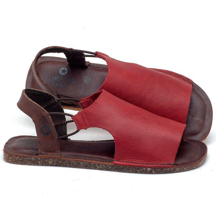 Laranja_Lima_Shoes_Sapatos_Femininos_Sandalia_Rasteira_Flat_em_Couro_Vermelho_-_Codigo_-_141043_1