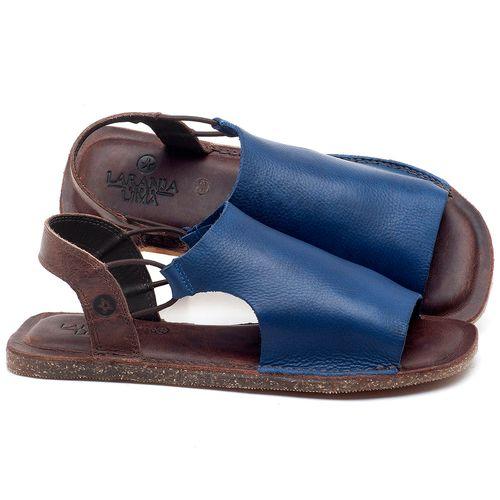 Laranja_Lima_Shoes_Sapatos_Femininos_Sandalia_Rasteira_Flat_em_Couro_Azul_-_Codigo_-_141043_1