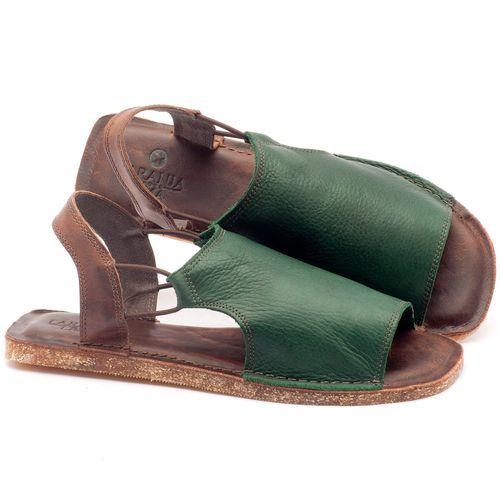 Laranja_Lima_Shoes_Sapatos_Femininos_Sandalia_Rasteira_Flat_em_Couro_Verde_-_Codigo_-_141043_1