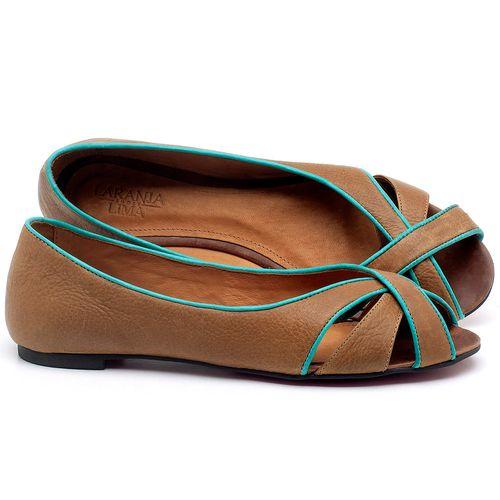 Laranja_Lima_Shoes_Sapatos_Femininos_Sapatilha_Peep_Toe_em_Couro_Caramelo_-_Codigo_-_56186_1