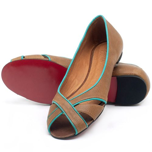 Laranja_Lima_Shoes_Sapatos_Femininos_Sapatilha_Peep_Toe_em_Couro_Caramelo_-_Codigo_-_56186_2