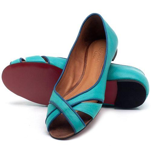 Laranja_Lima_Shoes_Sapatos_Femininos_Sapatilha_Peep_Toe_em_Couro_Azul_-_Codigo_-_56186_2