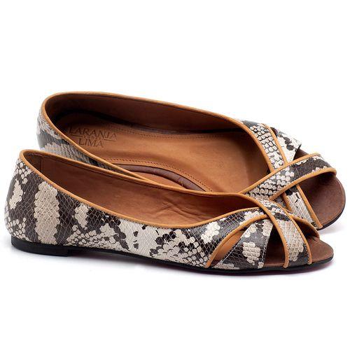 Laranja_Lima_Shoes_Sapatos_Femininos_Sapatilha_Peep_Toe_em_Couro_Cobra_-_Codigo_-_56186_1
