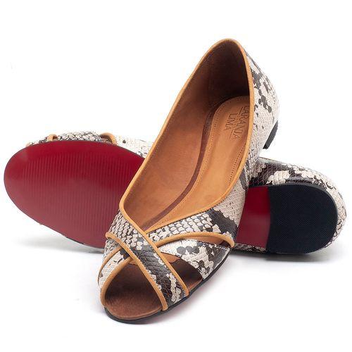 Laranja_Lima_Shoes_Sapatos_Femininos_Sapatilha_Peep_Toe_em_Couro_Cobra_-_Codigo_-_56186_2