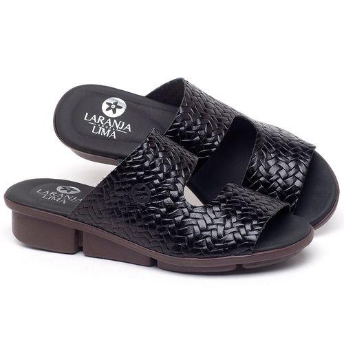 Laranja_Lima_Shoes_Sapatos_Femininos_Sandalia_Rasteira_Flat_em_Couro_Preto_-_Codigo_-_136096_1