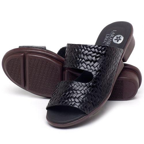 Laranja_Lima_Shoes_Sapatos_Femininos_Sandalia_Rasteira_Flat_em_Couro_Preto_-_Codigo_-_136096_2