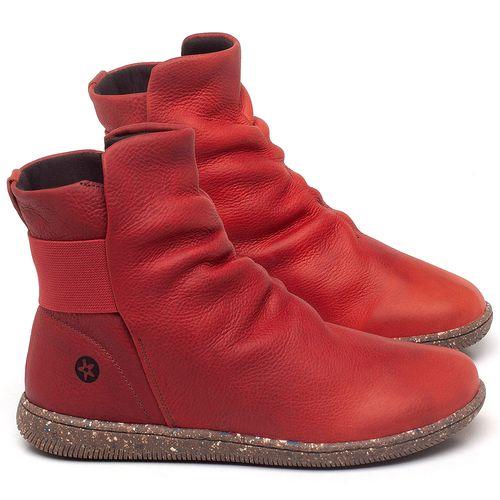 Laranja_Lima_Shoes_Sapatos_Femininos_Flat_Boot_em_Couro_Vermelho_-_Codigo_-_137257_1