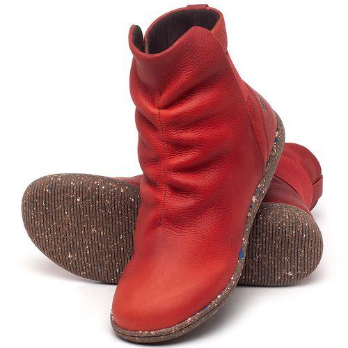 Laranja_Lima_Shoes_Sapatos_Femininos_Flat_Boot_em_Couro_Vermelho_-_Codigo_-_137257_2