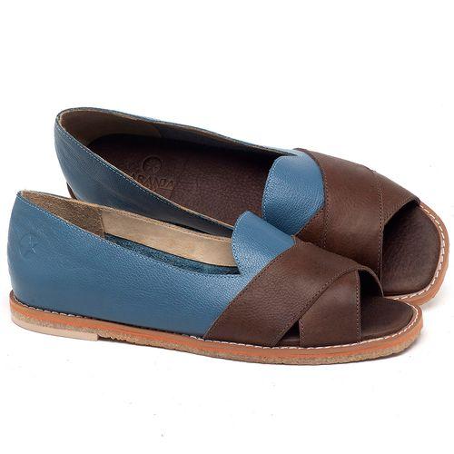 Laranja_Lima_Shoes_Sapatos_Femininos_Sandalia_Rasteira_Flat_em_Couro_Azul_-_Codigo_-_3729_1