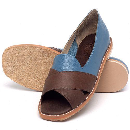 Laranja_Lima_Shoes_Sapatos_Femininos_Sandalia_Rasteira_Flat_em_Couro_Azul_-_Codigo_-_3729_2