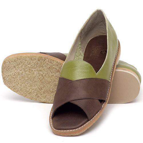 Laranja_Lima_Shoes_Sapatos_Femininos_Sandalia_Rasteira_Flat_em_Couro_Verde_-_Codigo_-_3729_2
