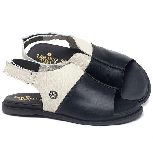 Laranja_Lima_Shoes_Sapatos_Femininos_Sandalia_Rasteira_Flat_em_Couro_Preto_-_Codigo_-_137288_1
