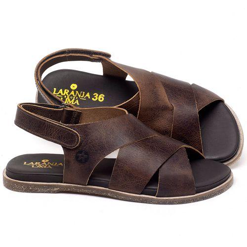 Laranja_Lima_Shoes_Sapatos_Femininos_Sandalia_Rasteira_Flat_em_Couro_Marrom_-_Codigo_-_137291_1