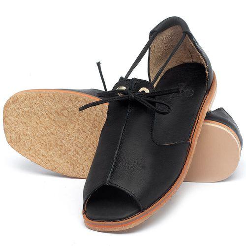 Laranja_Lima_Shoes_Sapatos_Femininos_Sandalia_Rasteira_Flat_em_Couro_Preto_-_Codigo_-_3731_2