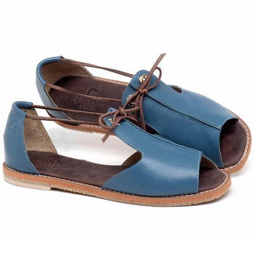 Laranja_Lima_Shoes_Sapatos_Femininos_Sandalia_Rasteira_Flat_em_Couro_Azul_-_Codigo_-_3731_1