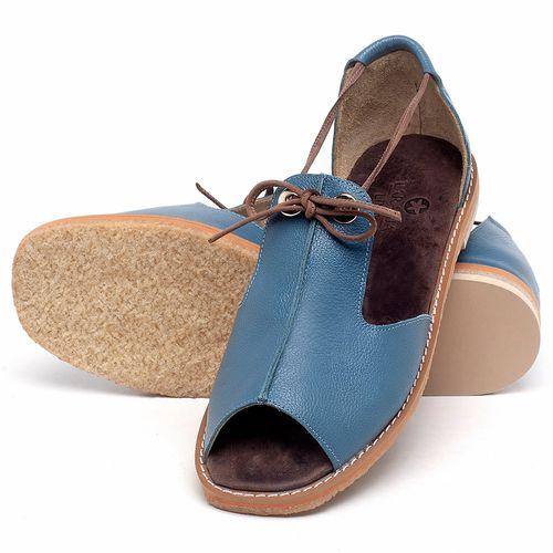 Laranja_Lima_Shoes_Sapatos_Femininos_Sandalia_Rasteira_Flat_em_Couro_Azul_-_Codigo_-_3731_2