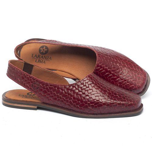 Laranja_Lima_Shoes_Sapatos_Femininos_Sapatilha_Bico_Quadrado_em_Couro_Vermelho_-_Codigo_-_136080_1