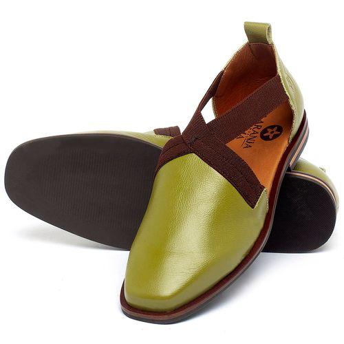 Laranja_Lima_Shoes_Sapatos_Femininos_Sapatilha_Bico_Quadrado_em_Couro_Verde_-_Codigo_-_136084_2