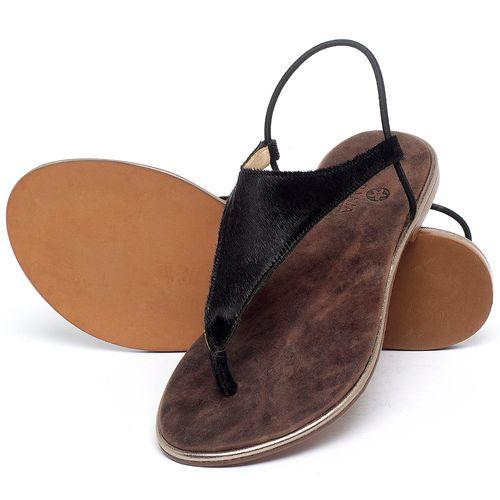 Laranja_Lima_Shoes_Sapatos_Femininos_Sandalia_Rasteira_Flat_em_Couro_Preto_-_Codigo_-_3720_2