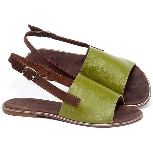 Laranja_Lima_Shoes_Sapatos_Femininos_Sandalia_Rasteira_Flat_em_Couro_Verde_-_Codigo_-_3721_1