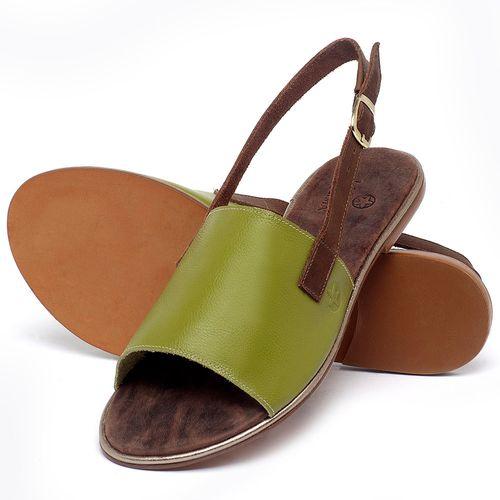 Laranja_Lima_Shoes_Sapatos_Femininos_Sandalia_Rasteira_Flat_em_Couro_Verde_-_Codigo_-_3721_2