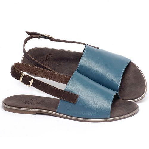 Laranja_Lima_Shoes_Sapatos_Femininos_Sandalia_Rasteira_Flat_em_Couro_Azul_-_Codigo_-_3721_1