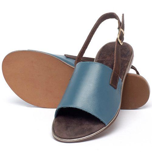 Laranja_Lima_Shoes_Sapatos_Femininos_Sandalia_Rasteira_Flat_em_Couro_Azul_-_Codigo_-_3721_2