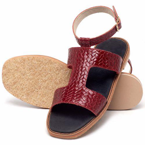 Laranja_Lima_Shoes_Sapatos_Femininos_Sandalia_Rasteira_Flat_em_Couro_Vermelho_-_Codigo_-_3730_2
