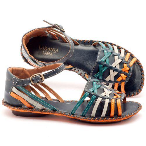 Laranja_Lima_Shoes_Sapatos_Femininos_Sandalia_Rasteira_Flat_em_Couro_Multicolor_-_Codigo_-_136003_1