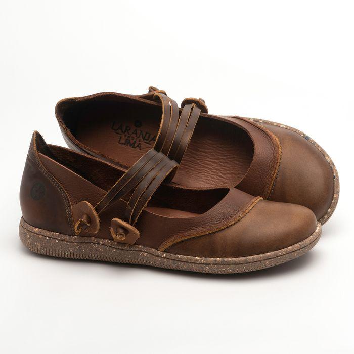 Laranja_Lima_Shoes_Sapatos_Femininos_Sapatilha_Alternativa_em_Couro_Marrom_-_Codigo_-_137267_1