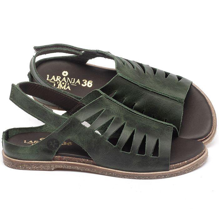 Laranja_Lima_Shoes_Sapatos_Femininos_Sandalia_Rasteira_Flat_em_Couro_Verde_-_Codigo_-_137284_1
