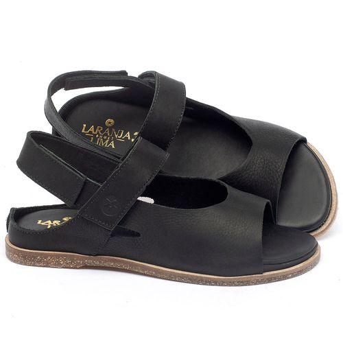 Laranja_Lima_Shoes_Sapatos_Femininos_Sandalia_Rasteira_Flat_em_Couro_Preto_-_Codigo_-_137287_1