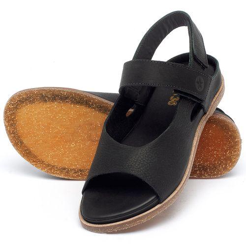 Laranja_Lima_Shoes_Sapatos_Femininos_Sandalia_Rasteira_Flat_em_Couro_Preto_-_Codigo_-_137287_2
