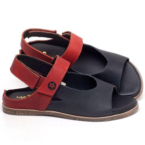 Laranja_Lima_Shoes_Sapatos_Femininos_Sandalia_Rasteira_Flat_em_Couro_Azul_-_Codigo_-_137287_1
