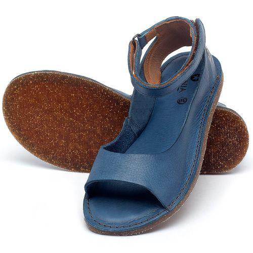Laranja_Lima_Shoes_Sapatos_Femininos_Sandalia_Rasteira_Flat_em_Couro_Azul_-_Codigo_-_141158_2