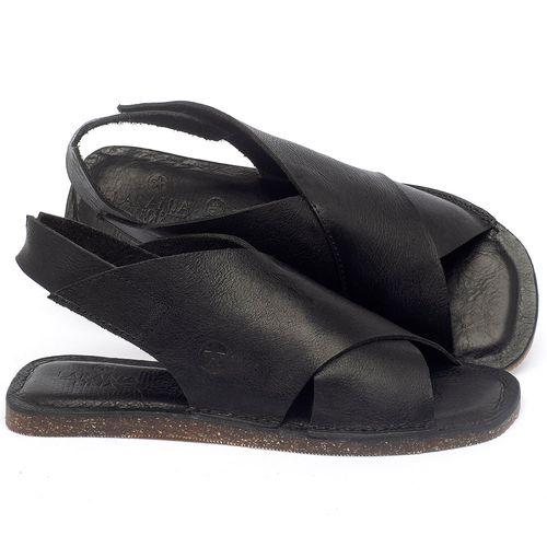 Laranja_Lima_Shoes_Sapatos_Femininos_Sandalia_Rasteira_Flat_em_Couro_Preto_-_Codigo_-_141162_1