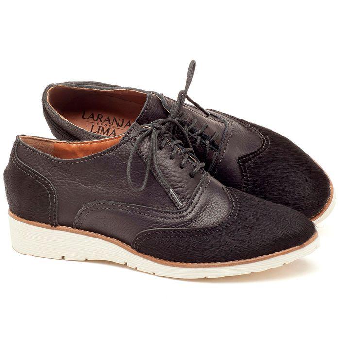 Laranja_Lima_Shoes_Sapatos_Femininos_Oxford_Laranja_Lima_Shoes_Salto_de_3_cm_em_Couro_Preto_-_Codigo_-_3592_1