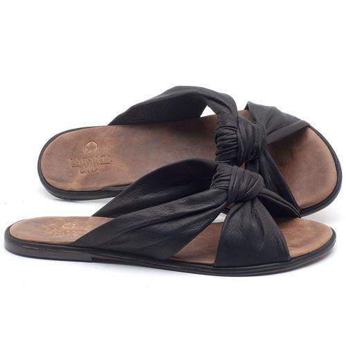 Laranja_Lima_Shoes_Sapatos_Femininos_Sandalia_Rasteira_Flat_em_Couro_Preto_-_Codigo_-_3669_1