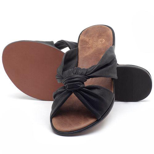Laranja_Lima_Shoes_Sapatos_Femininos_Sandalia_Rasteira_Flat_em_Couro_Preto_-_Codigo_-_3669_2