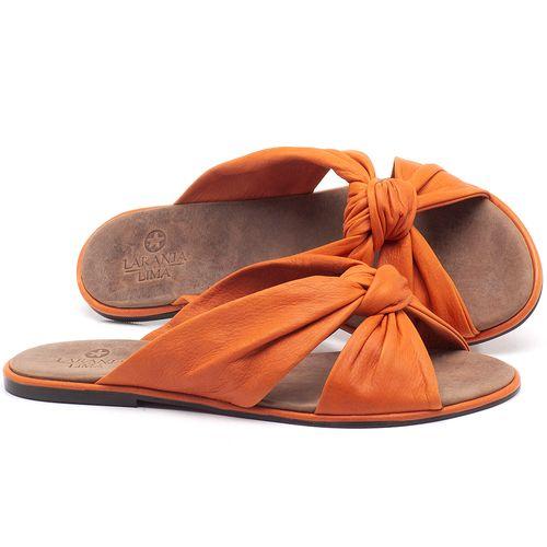Laranja_Lima_Shoes_Sapatos_Femininos_Sandalia_Rasteira_Flat_em_Couro_Laranja_-_Codigo_-_3669_1