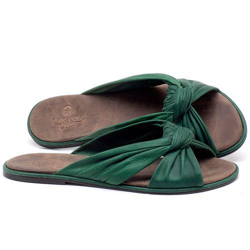 Laranja_Lima_Shoes_Sapatos_Femininos_Sandalia_Rasteira_Flat_em_Couro_Verde_-_Codigo_-_3669_1