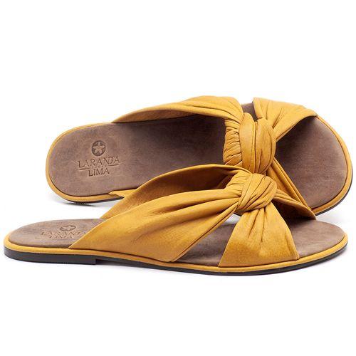Laranja_Lima_Shoes_Sapatos_Femininos_Sandalia_Rasteira_Flat_em_Couro_Amarelo_-_Codigo_-_3669_1