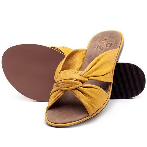 Laranja_Lima_Shoes_Sapatos_Femininos_Sandalia_Rasteira_Flat_em_Couro_Amarelo_-_Codigo_-_3669_2