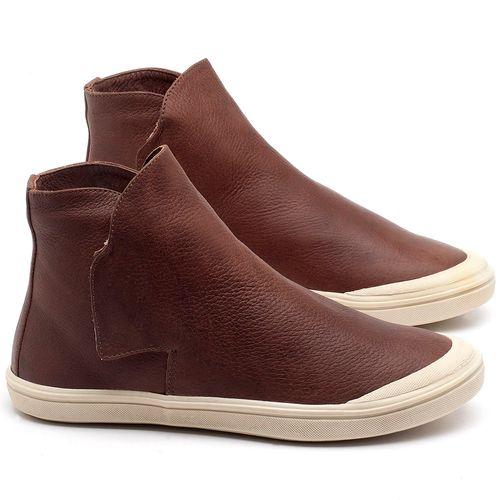 Laranja_Lima_Shoes_Sapatos_Femininos_Tenis_Cano_Alto_em_Couro_Marrom_-_Codigo_-_56092_1