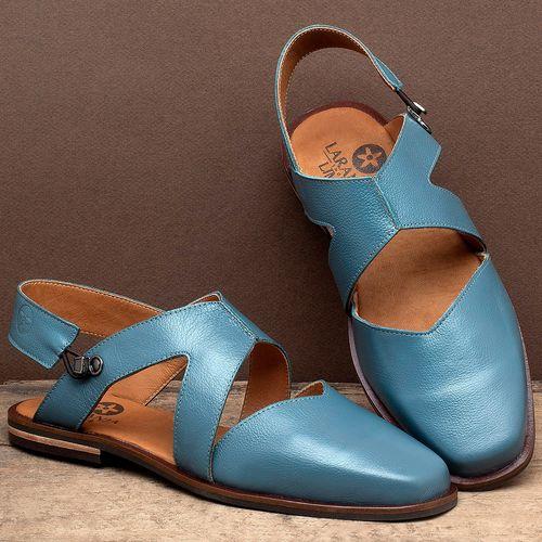 Laranja_Lima_Shoes_Sapatos_Femininos_Sapatilha_Bico_Quadrado_em_Couro_Azul_-_Codigo_-_136082_2