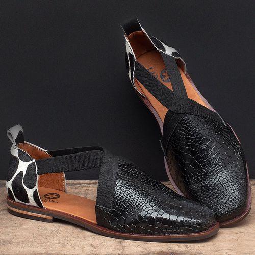 Laranja_Lima_Shoes_Sapatos_Femininos_Sapatilha_Bico_Quadrado_em_Couro_Preto_-_Codigo_-_136084_2
